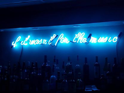 """Mount Vernon's Diskobar, opening Friday, features a neon sign above its bar that reads, """"if it wasn't for the music."""" The line is from Indeep's """"Last Night a D.J. Saved My Life."""""""