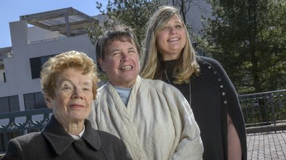 From left, Georgia Eacker, Cathy Hudson and Buffy Beaudoin-Schwartz will be inducted into the Howard County Women's Hall of Fame on March 28.