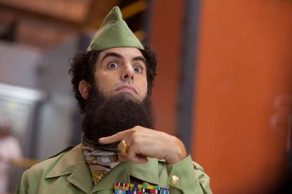 """Sacha Baron Cohen, in his 2012 comedy """"The Dictator,"""" is this year's recipient of the BAFTA Los Angeles Charlie Chaplin Britannia Award."""