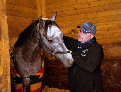 El Areeb and trainer Cal Lynch