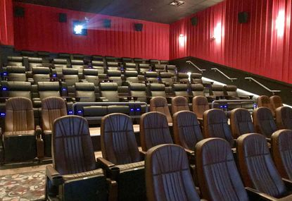 One of eight auditoriums in the new Horizon Cinemas movie theater in Aberdeen; each auditorium has wall-to-wall screens, surround sound and reclining seats. The movie theater opened to the public Friday.