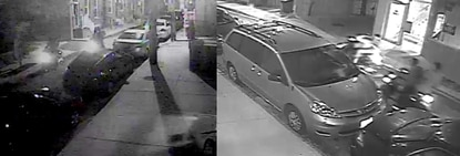 These images were taken from surveillance cameras in Federal Hill.
