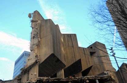 Demolition of the Morris A Mechanic Theater took place in 2013. The area was never redeveloped.