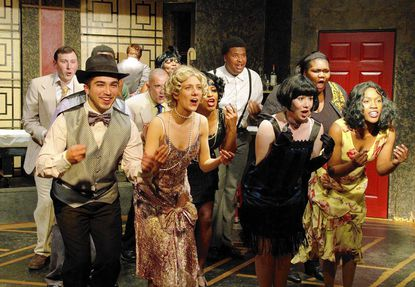 """The cast performs a number in Andrew Lippa's """"The Wild Party,"""" on stage at Laurel Mill Playhouse through May 17."""