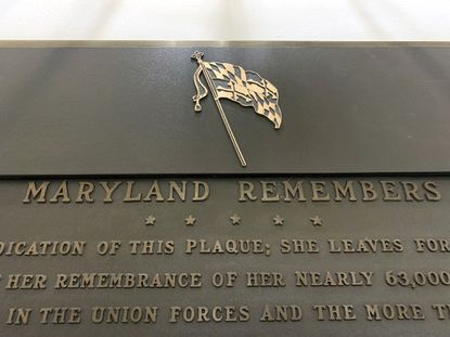 A plaque in the State House commemorating the Civil War was modified last year to cover up an image that showed American and Confederate flags crossed. House of Delegates Speaker Adrienne A. Jones wanted the whole plaque removed because it honored both Union and Confederate soldiers, and State House Trust voted Monday to do so.