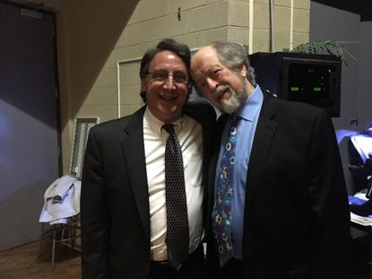 Tom Hall, left, and Theodore Morrison backstage at Baltimore Choral Arts Society's 50th anniversary concert.
