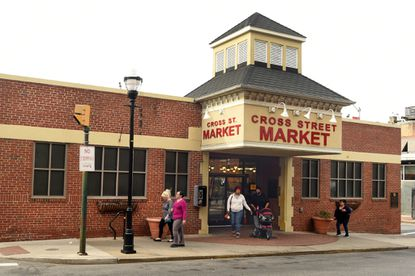 The Light Street entrance to Cross Street Market.