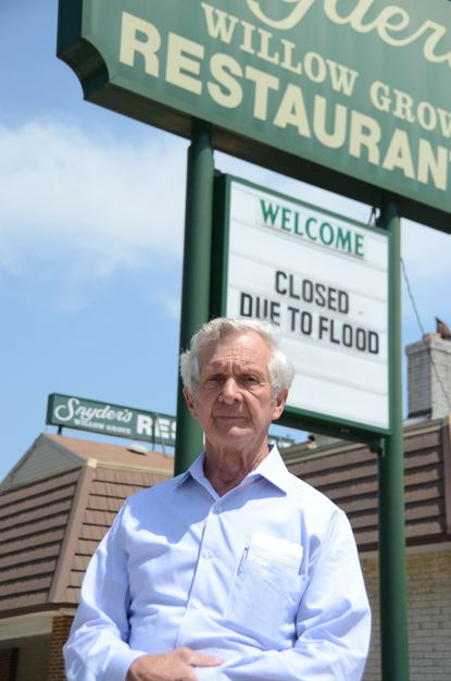 Vernon Snyder says flooding has forced him to close Snyder's Willow Grove, a restaurant and banquet hall in Linthicum that has operated for 78 years.