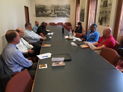 Nine people took part in the most recent meeting of the Good Government Book Club, which has met every few months for the past five years and is open to all city employees.