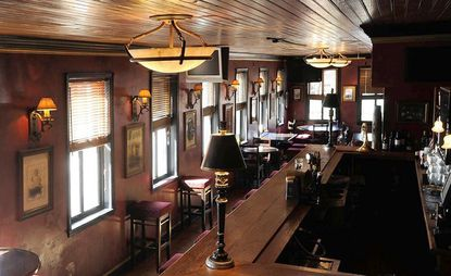 This is the upstairs bar and dining area at Slainte in Fells Point.