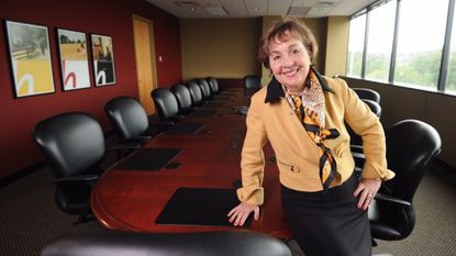 Ellicott City, MD- 8/19/13-Mary Ann Scully, Chief Executive Officer of Howard Bank is pictured in the board room and her office. Algerina Perna/Baltimore Sun, #2632.