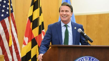 Harford County Executive Barry Glassman, shown giving his State of the County Address last month, announced a shakeup in his administration's economic development efforts Thursday.