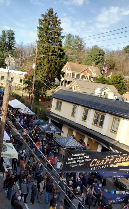 Attendees gather on Main Street for Sykesville's Craft Beer Festival on Saturday, Nov. 9. The event drew about 10,000, setting a record.