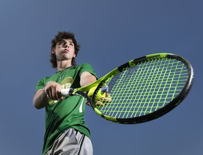 Century's Jack Amerault is the 2021 Carroll County Times Boys Tennis Player of the Year.