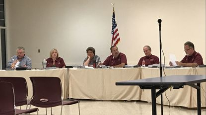 The New Windsor Town Council met Wednesday, Oct. 3, 2018 and discussed the pay-as-you-throw pilot program.