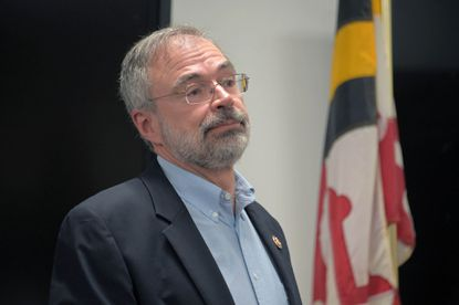 Rep. Andy Harris, a Republican representing Maryland's 1st congressional district, attends a sometimes contentious town hall meeting at the Kingsville Volunteer Fire Company on Friday, December 20, 2019. File. (Karl Merton Ferron/Baltimore Sun)