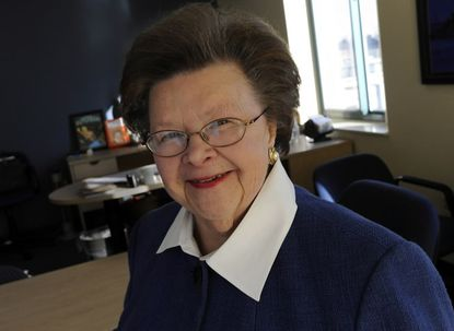 """Sen. Barbara Mikulski and all the other Democrats in Maryland's congressional delegation got a 100 percent on the Human Rights Campaign's latest """"scorecard."""" Rep. Andy Harris, the delegation's lone Republican, got a 0 percent."""