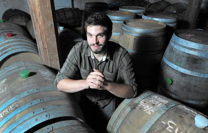 Kyle Sherrer is the co-owner and operator of the Millstone Cellars cidery.