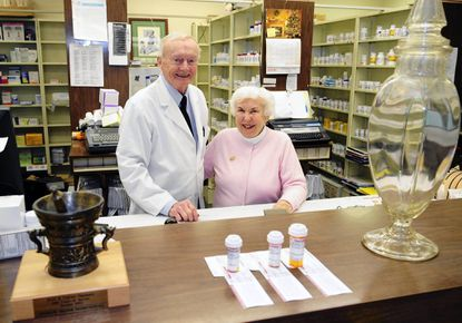 Businesswoman and unofficial matriarch and historian of Bel Air Maryterese Streett, shown with her husband Eugene at their Boyd & Fulford Drugs earlier this year, died Saturday evening at age 81.