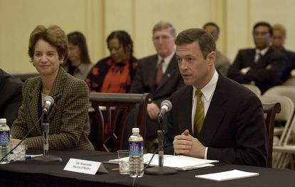 Lt. Governor Kathleen Kennedy Townsend and Mayor Martin O'Malley in 2002.