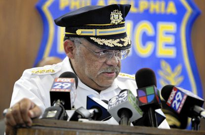Police Commissioner Charles Ramsey during news conference at Philadelphia Police headquarters in Aug. 2010.