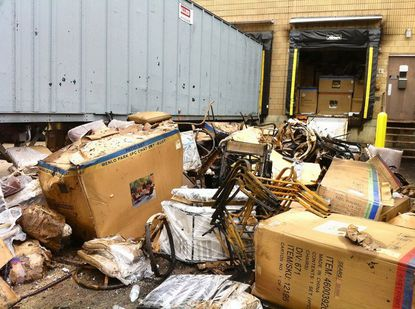 The fire at the Sears loading dock damaged some of the merchandise at the dock. No one was injured in the fire, which is still being investigated.
