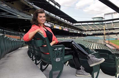 Melanie Newman joined the Orioles this year as the club's first female play-by-play announcer.