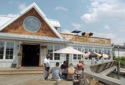 Nick's Fish House in Port Covington near the Hanover Street Bridge.