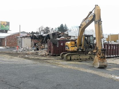 After years sitting vacant, the old gas station at the corner of Tollgate Road and Baltimore Pike is being torn down to make way for a medical office building.