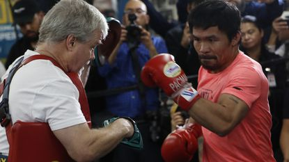 Manny Pacquiao, Philippines senator, is out to prove sports and politics do mix