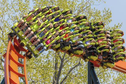 Cedar Point's new Rougarou roller coaster. The floorless coaster has a werewolf theme. It's one of a number of new attractions at theme parks around the country this summer.