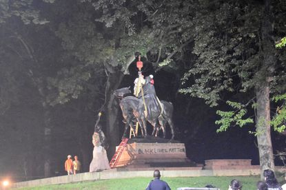 The Jackson-Lee Monument in Wyman Park in Baltimore was removed a few years ago.