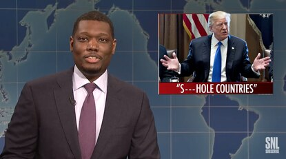 'Trump saying something racist isn't exactly news anymore,' 'SNL' laments