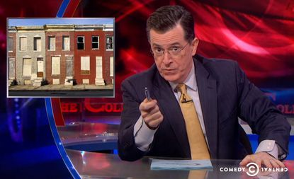 Stephen Colbert calls Baltimore a 'wasteland.'