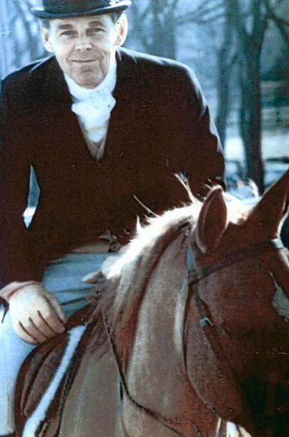 Whitney French Morrill, fox hunting