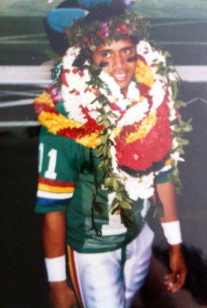 Ken Niumatalolo after Hawaii played in the 1988 Aloha Bowl.