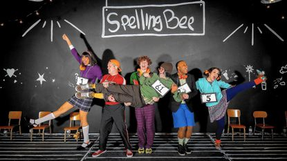 The cast of Stillpointe Theatre's The 25th Annual Putnam County Spelling Bee.
