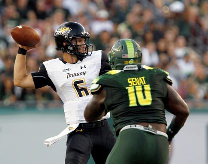 State college football roundup: Victor has 2 TDs in Towson's 56-20 loss to South Florida