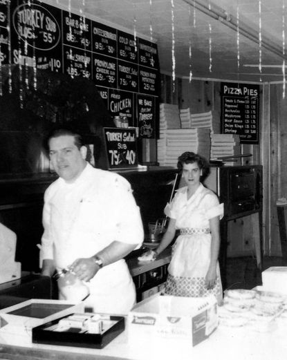 William N. Gill Sr. and his wife, Gertrude H. Gill, in their first store in Gardenville, which opened in 1957.