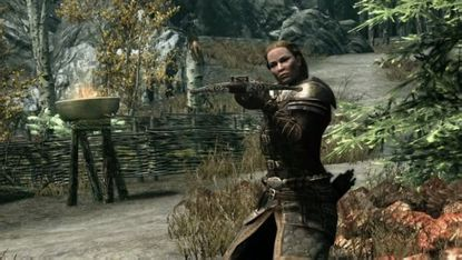 """You might be looking down the business end of a crossbow if you choose to become a vampire in the """"Skyrim"""" DLC pack """"Dawnguard."""""""