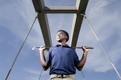 Gilman junior golfer Jairus Gaines is playing in the 2016 Nature Valley First Tee Open at Pebble Beach in California.