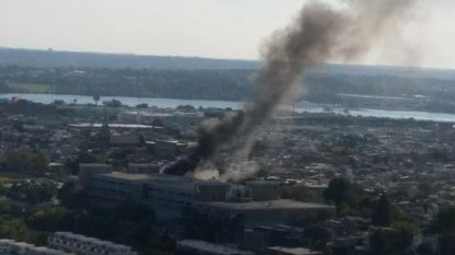 The blaze was reported in the 400 block of Sanders Street, according to city emergency officials.