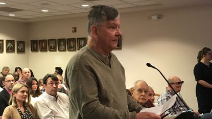 Jim Nemeth of Havre de Grace said a proposed resolution about the city election could limit free speech, but the council voted to table the resolution.