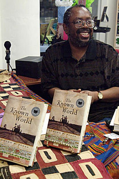 """Author Edward P. Jones pauses for a photo during a book signing for his novel """"The Known World"""" in February."""