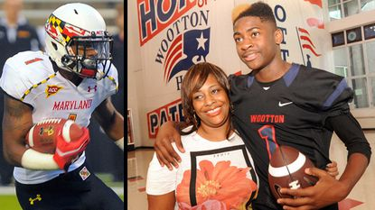 As Stefon Diggs (left) and the Terps begin practice Monday, Stephanie Diggs' younger son Trevon is receiving collegiate offers as a cornerback, receiver and returner at Rockville's Wootton High School. The brothers lost their father in January 2008.