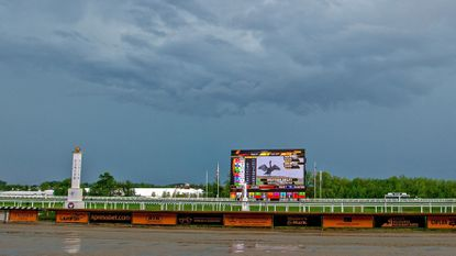 Storms forced the cancellation of five races at Laurel Park on Thursday.