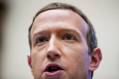 In this Oct. 23, 2019 file photo, Facebook CEO Mark Zuckerberg testifies before a House Financial Services Committee hearing on Capitol Hill in Washington. Facebook faces a growing advertiser boycott over its unwillingness to vigorously police political and hate speech.