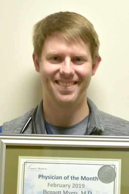 Carroll Hospital's February Physician of the Month, Bennett Myers, M.D., emergency medicine. - Original Credit: Courtesy Photo
