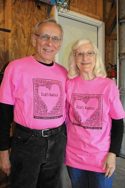 Ellie Feaga's grandparents, Larry and Judy Orwig, are grand supporters of Ellie's charity bake sale