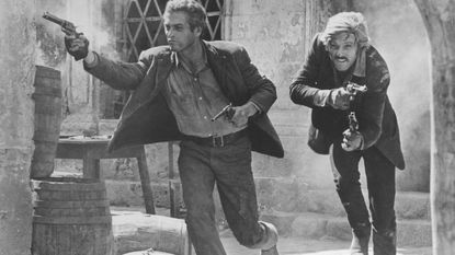 "Paul Newman and Robert Redford in ""Butch Cassidy and the Sundance Kid."" A showing for the film's 50th anniversary will be held on Friday at the Carroll Arts Center."